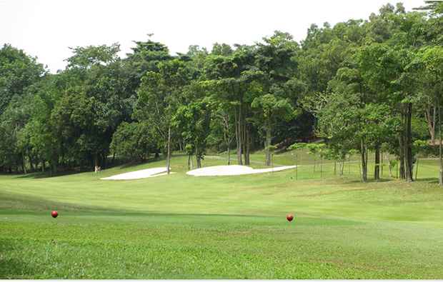 green view fairway at tering bay golf club in batam island indonesia
