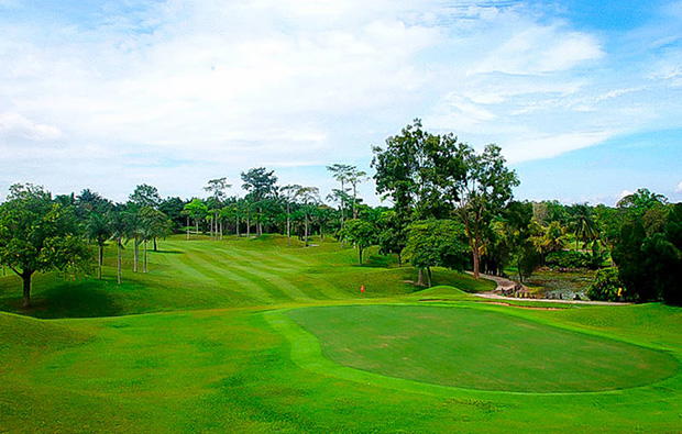 fairway at tering bay golf club in batam island indonesia