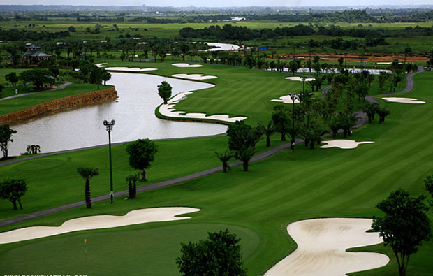 aerial view, hanoi golf club, hanoi, vietnam