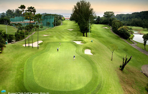 view of the course at keppel club, singapore