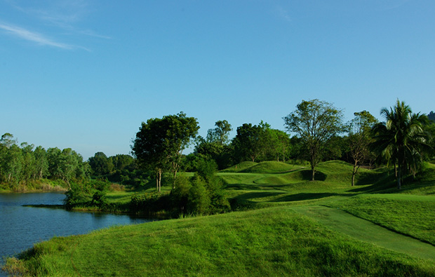 view over emerald golf club, pattaya, thailand