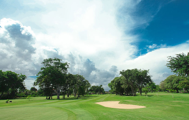 the lush fairway at  bali beach golf club, bali
