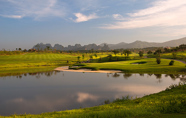 8th hole sky lake golf resort, sky course, hanoi, vietnam