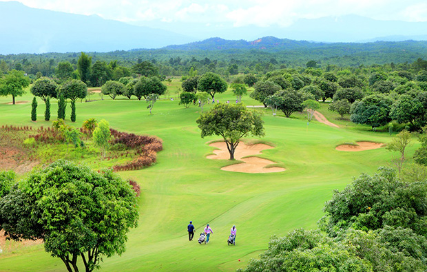 aerial view, chiangmai inthanon golf resort, chiang mai, thailand