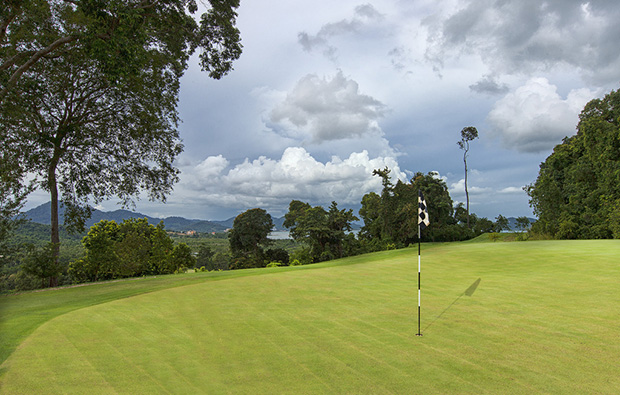 view over green 99 east golf club, langkawi