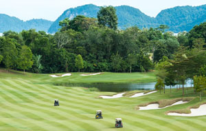 1st hole 99 east golf club, langkawi