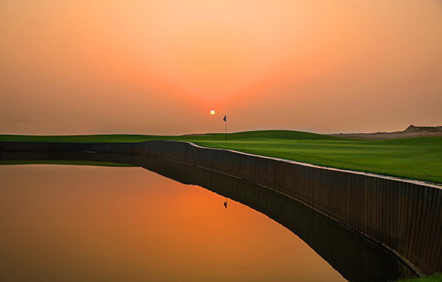 sunset al zorah golf club, dubai, united arab emirates
