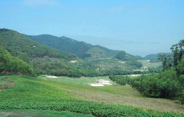 mountain side golf course at annika course mission hills, guangdong china