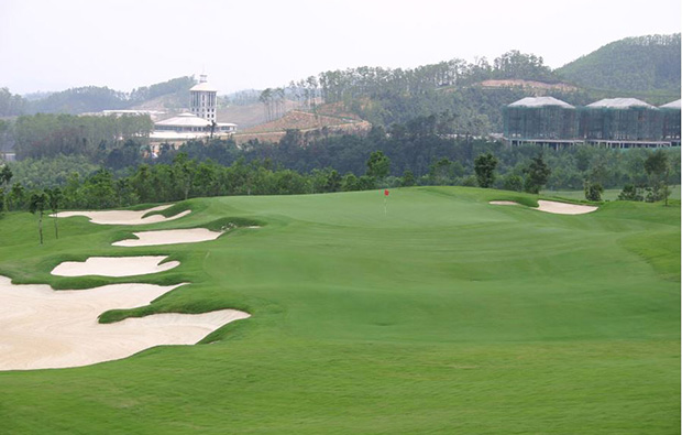 bunker at annika course mission hills, gunagdong china