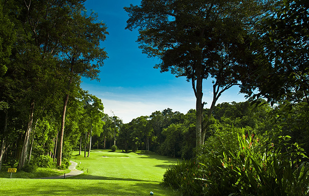 tree-lined fairway Ayer Keroh Country Club, Malacca, Malaysia