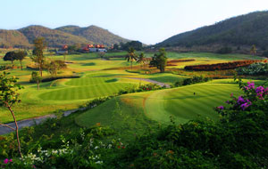 panoramic view of course, banyan golf club, hua hin, thailand