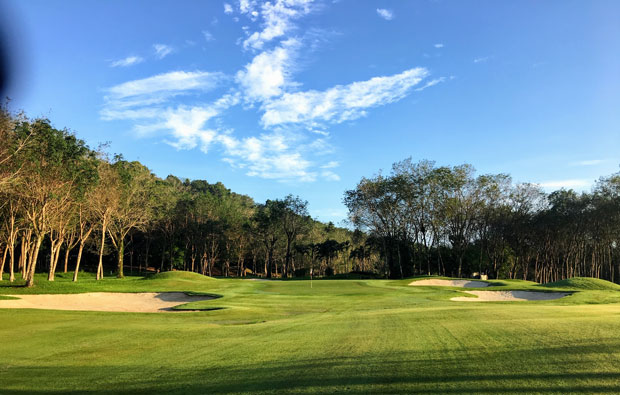6th Hole blue canyon country club, canyon course, phuket