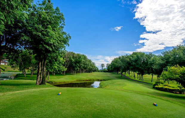 3rd hole blue canyon country club, canyon course, phuket
