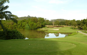 8th hole blue canyon country club, lakes course, phuket