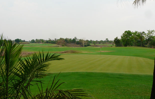 looking down fairway  booyoung country club, siem reap, cambodia