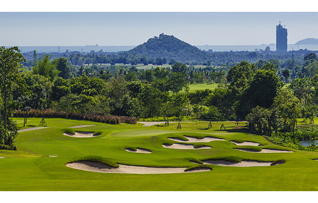2nd hole, siam country club plantation course, pattaya, thailand