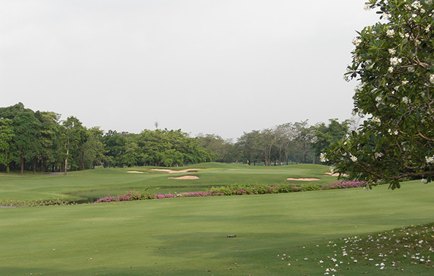 fairway at navatanee golf course, bangkok, thailand