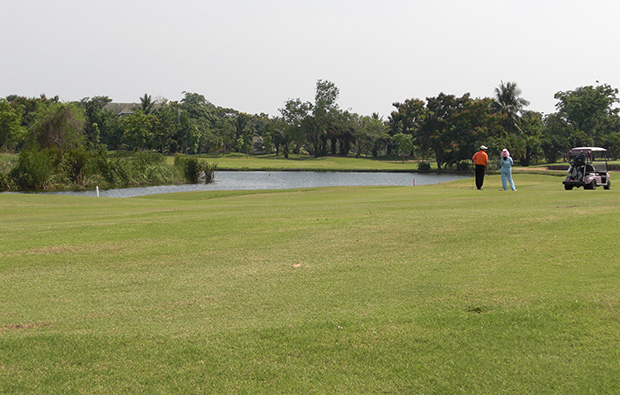 green at green valley golf club, bangkok, thailand