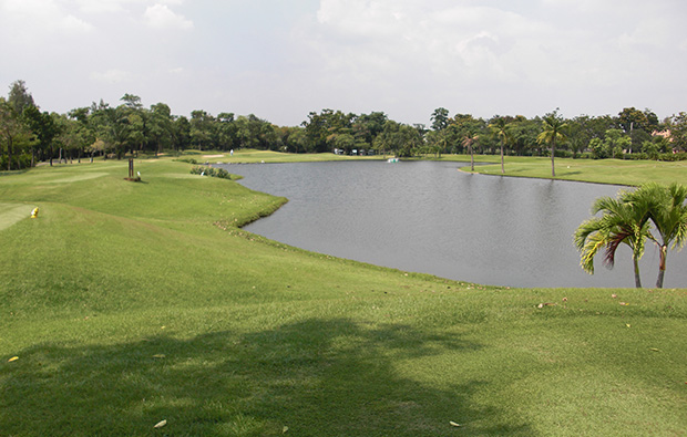 fairway at green valley golf club, bangkok, thailand