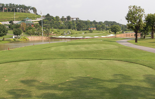 view to green, long thanh golf resort, ho chi minh, vietnam