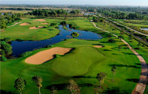 aerial view angkor golf resort, siem reap, cambodia
