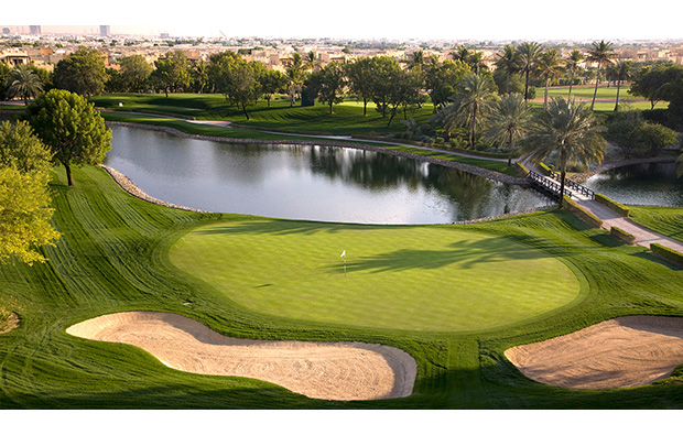 green, emirates golf club majlis course, dubai, united arab emirates