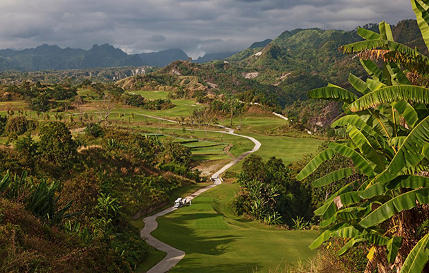 General view over Eagle Ridge Golf Country Club, Manila, Philippines