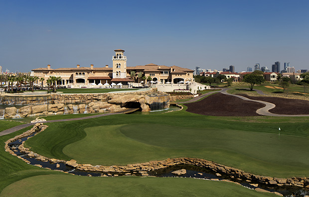 clubhouse, jumeirah golf estates earth course, dubai, united arab emirates