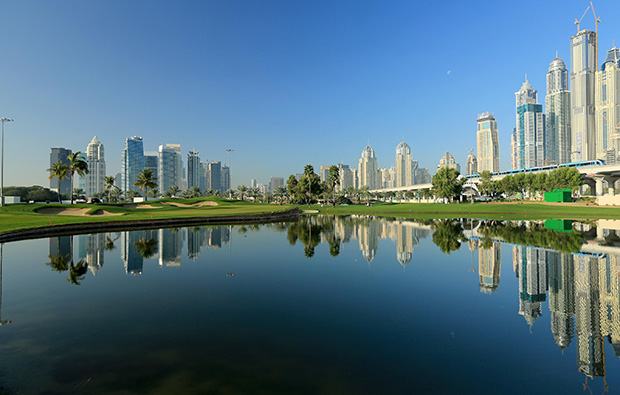 emirates golf club faldo course, dubai, united arab emirates