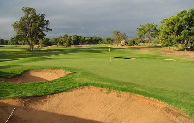 Green Glenelg Golf Club near Adelaide