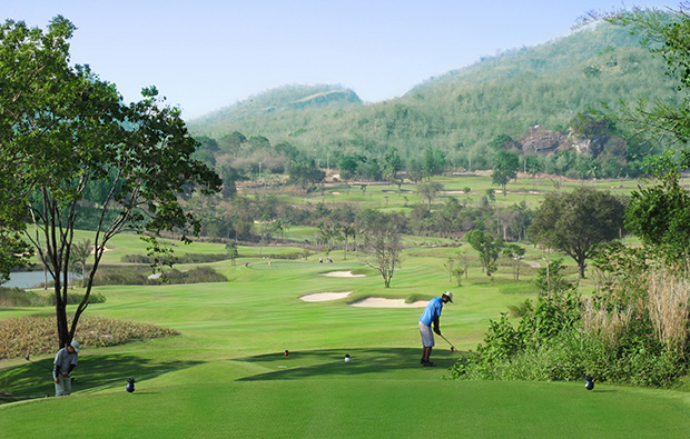 mountain backdrop, banyan golf club, hua hin, thailand