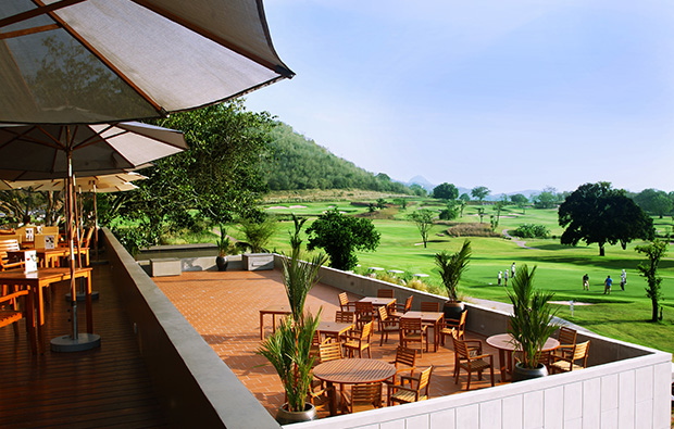 clubhouse terrace, banyan golf club, hua hin, thailand