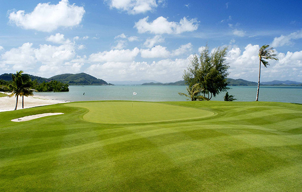 green beside sea mission hills golf resort, phuket