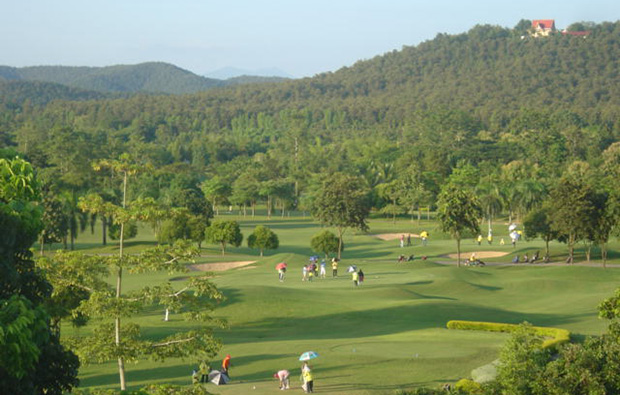 view over royal chiang mai golf resort, chiang mai, thailand