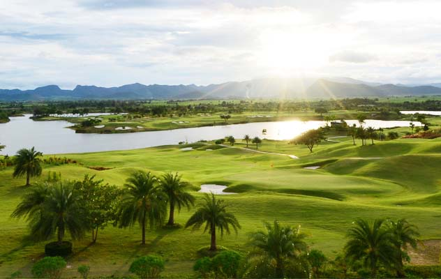 View across Grand Prix Golf Club, Kanchanaburi