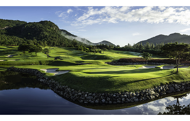 dawn at black mountain golf club, hua hin, thailand