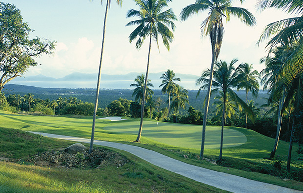 14th hole  santiburi samui golf club, samui, thailand