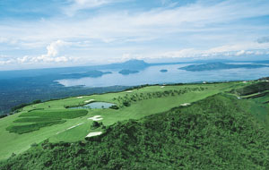 Aerial view Tagaytay Highlands International Golf Club, Manila, Philippines