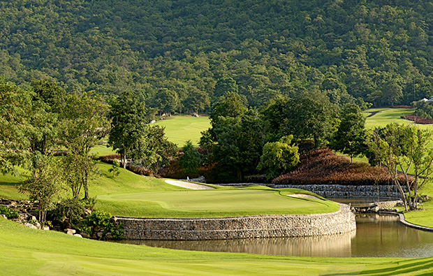 hole 11 approach, black mountain golf club, hua hin, thailand