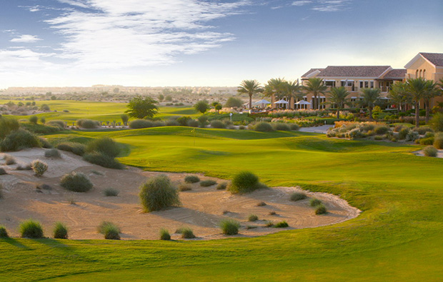 hole 18 fairway, arabian ranches golf course, dubai, united arab emirates