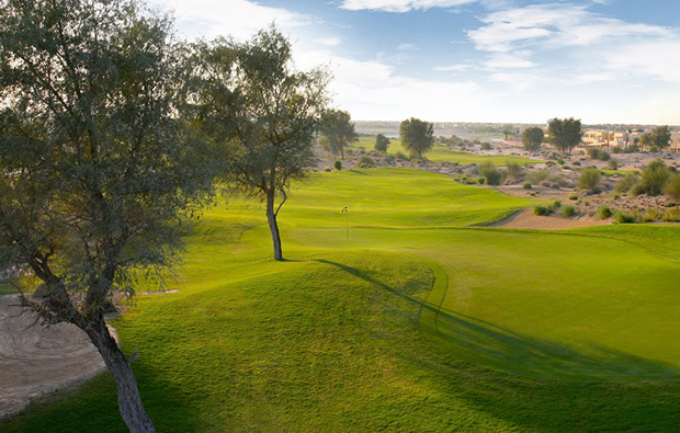 fairway hole 3, arabian ranches golf course, dubai, united arab emirates