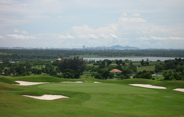 panorama of  burapha golf club, pattaya, thailand