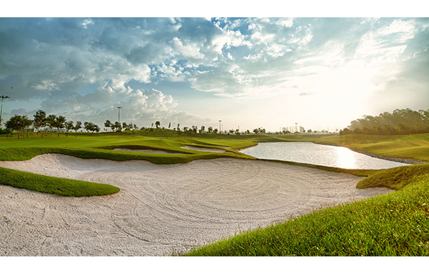 bunkers, long bien golf course, hanoi, vietnam