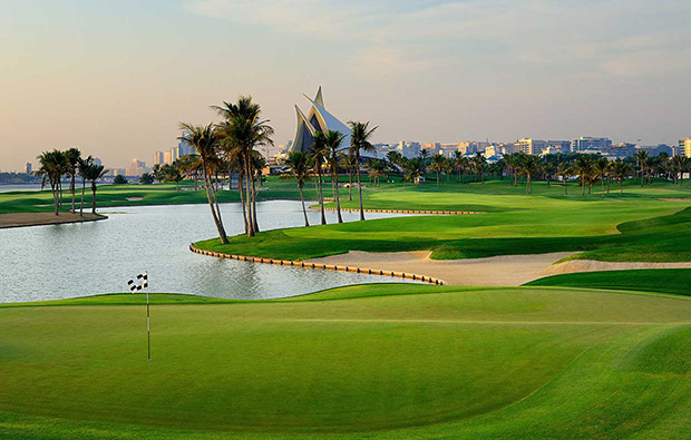 green, dubai creek golf club, dubai, united arab emirates