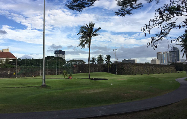 View to Fort at Club Intramuros Golf Course, Manila, Philippines