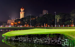island green Club Intramuros Golf Course, Manila, Philippines