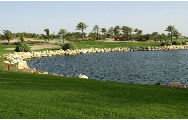 hole 1,  jebel ali golf club, dubai, united arab emirates