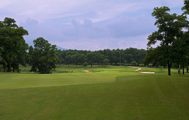 fairway, kings island country club lakeside course, hanoi, vietnam