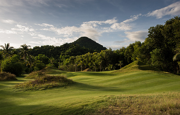 undulating landscape, laguna lang co golf club, danang, vietnam