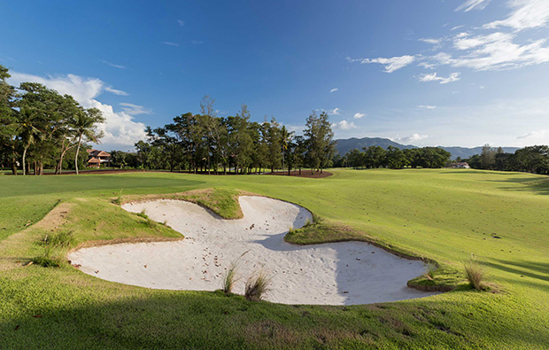15th green laguna phuket golf club, phuket